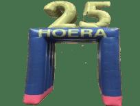 blikvanger-feestboog-jubileumboog-opblaasbare feestboog 25 hoera-huren-in-brabant