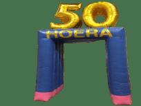 blikvanger opblaasfiguur feestboog jubileumboog 50 hoera huren-in-brabant