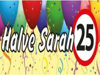 Banner spandoek halve sarah 25 jaar