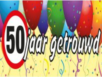 spandoek 50 jaar getrouwd ballonnen