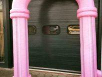 Feestboog roze opblaasbaar
