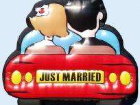 Just Married opblaasbaar bruidspaar