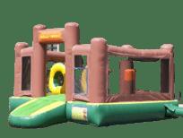 springkussen speeleiland gorilla met 3d obstakels huren in brabant