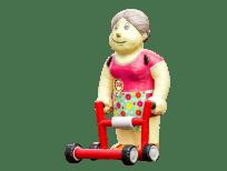 vrouw rollator