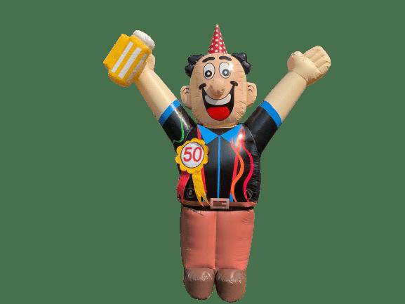 abraham opblaasfiguur feest