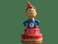 jarige job verjaardagspop opblaasbaar huren