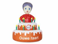 opblaaspop verjaardagspop ouwe taart sarah
